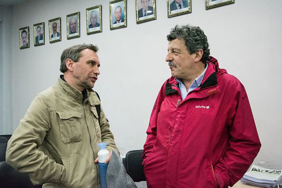 Tomáš Tožička - předseda Social Watch ČR (vlevo) a Roberto Bissio - koordinátor sekretariátu Social Watch